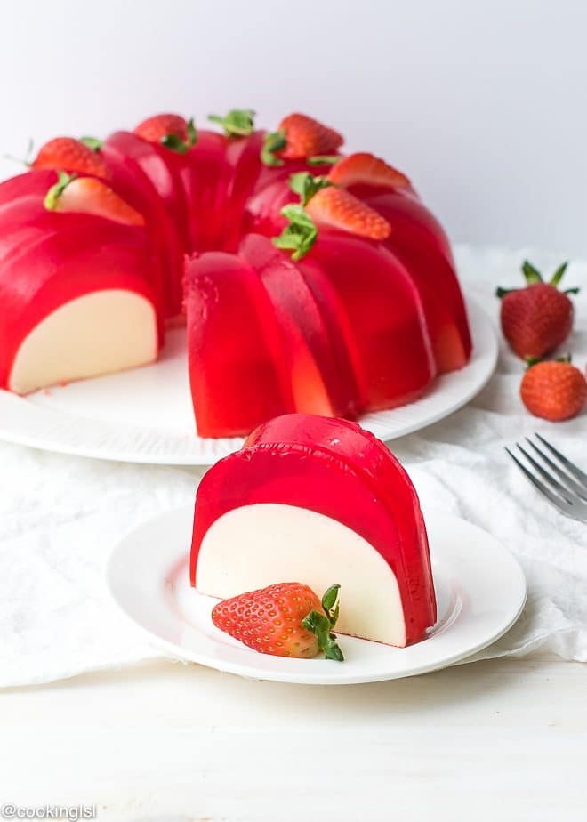 Milk Strawberry Jell-O Mold Bundt Cake Recipe