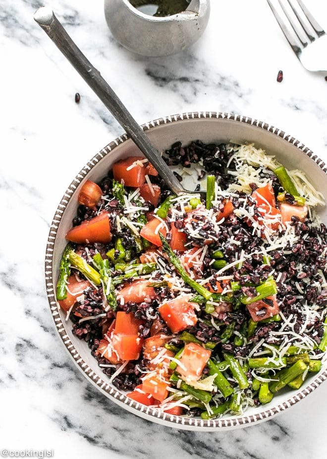 Black Rice Salad Recipe in a salad bowl