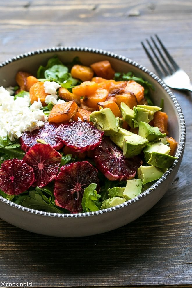 Roasted Butternut Squash And Blood Orange Salad