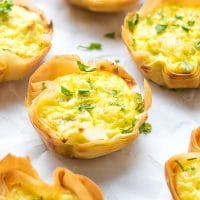 Egg, Leek and Feta Phyllo Cups