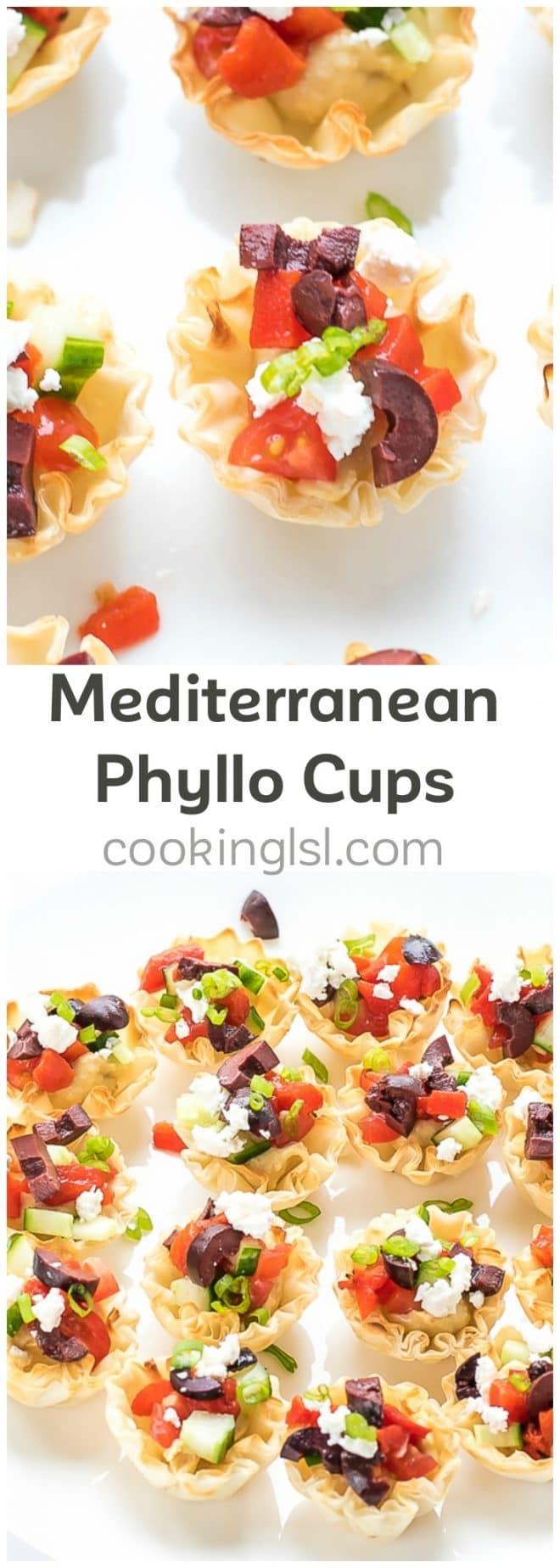 Mediterranean Phyllo Cups