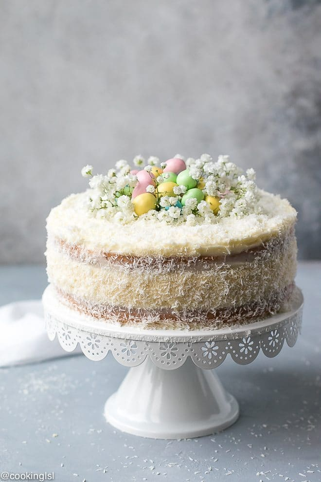 Coconut Cheesecake Cake For Easter Cooking LSL