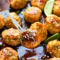 Honey Sriracha Chicken Meatballs Recipe