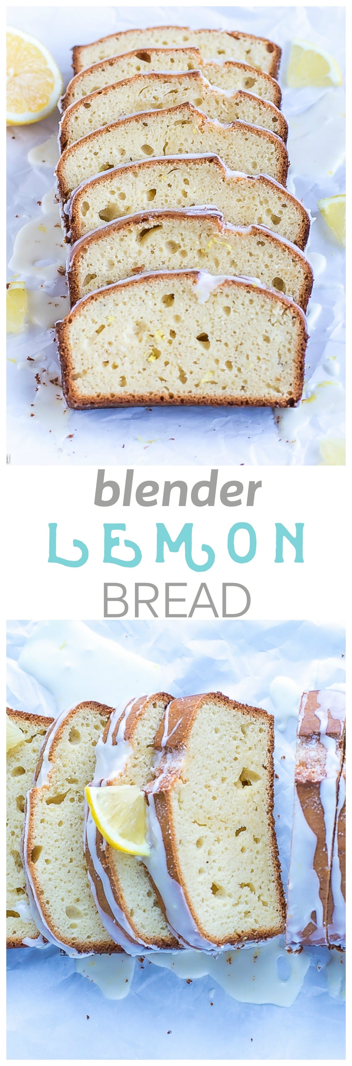 Blender Lemon Bread Recipe - fluffy and flavorful, this sweet lemon bread is extremely easy to make. The sweet glaze on top is just the perfect finish to this delicious goodness!