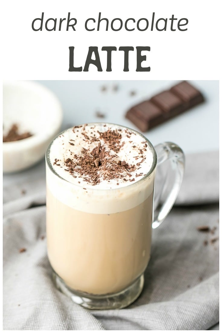 Dark Chocolate Latte, made with International Delight® One Touch Latte™ - a cool new product, which allows you to make latte in three easy steps.