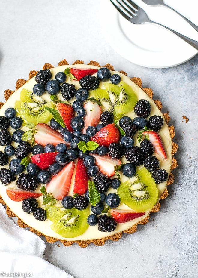 Cream Tart With Graham Cracker Crust