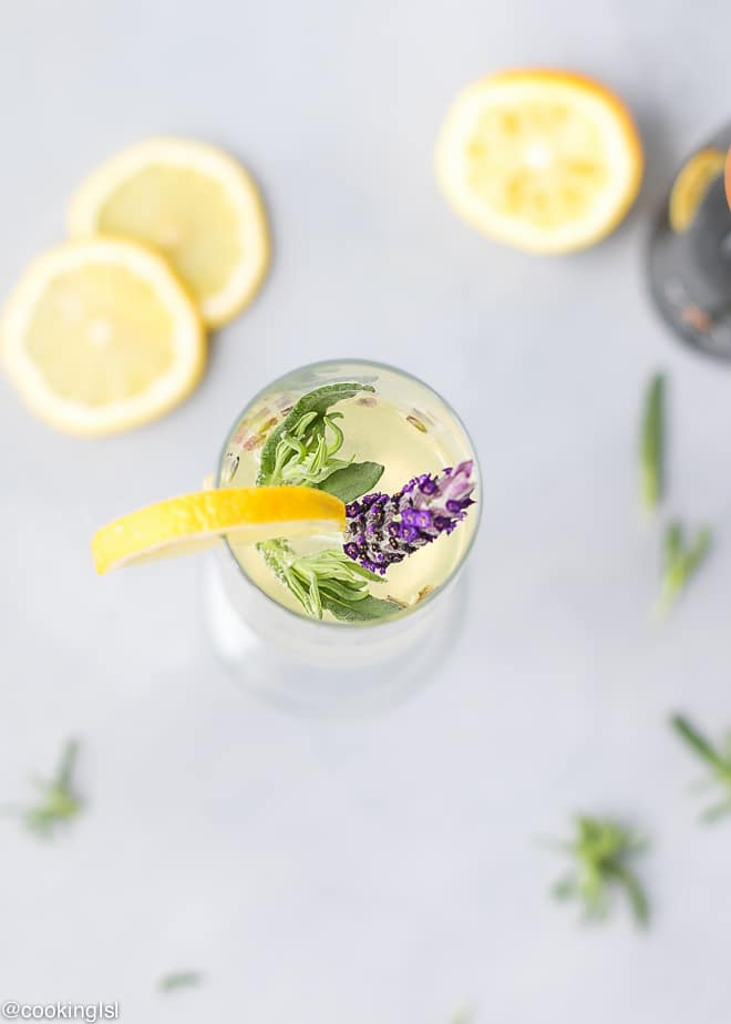 The best Sparkling Lemon Lavender Cocktail Recipe