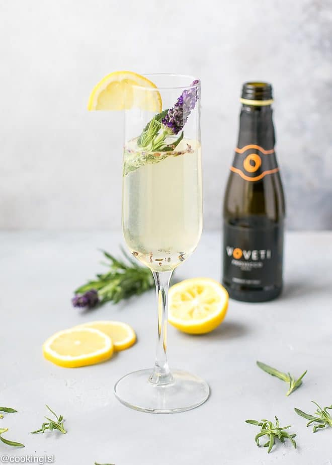 Sparkling Lavender Cocktail