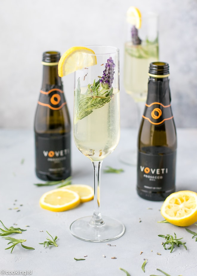 Easy Sparkling Lavender Cocktail Recipe