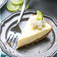 Key Lime Pie Recipe {Lightened Up}. Made with Greek Yogurt
