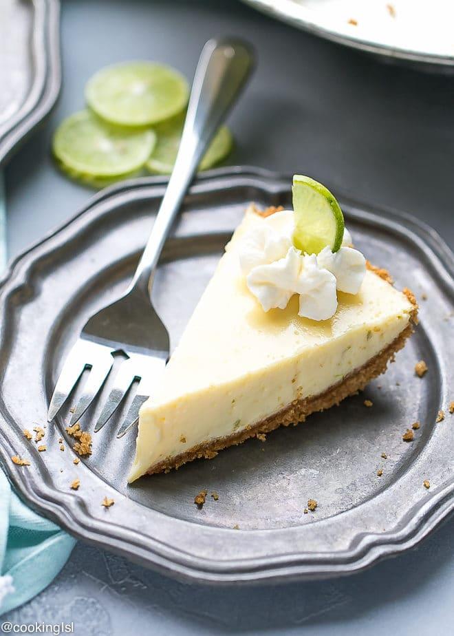 Key Lime Pie Recipe {Lightened Up}. Made with Greek Yogurt