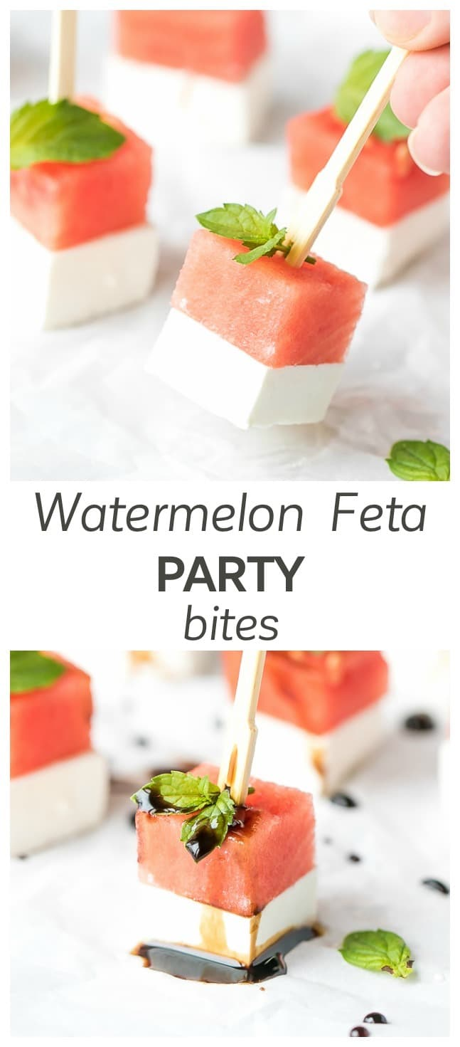 Watermelon And Feta Appetizer Bites - the perfect bite sized summer appetizer, easy to make and great for a party.