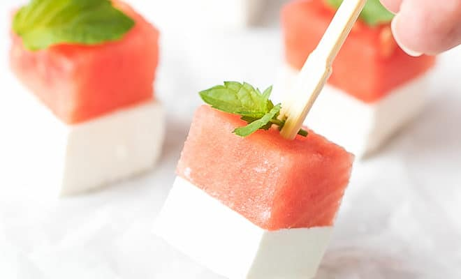Watermelon And Feta Appetizer Bites