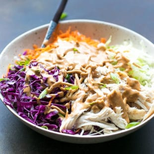 Easy Chinese Chicken Salad With Peanut Dressing And Chow Mein Noodles