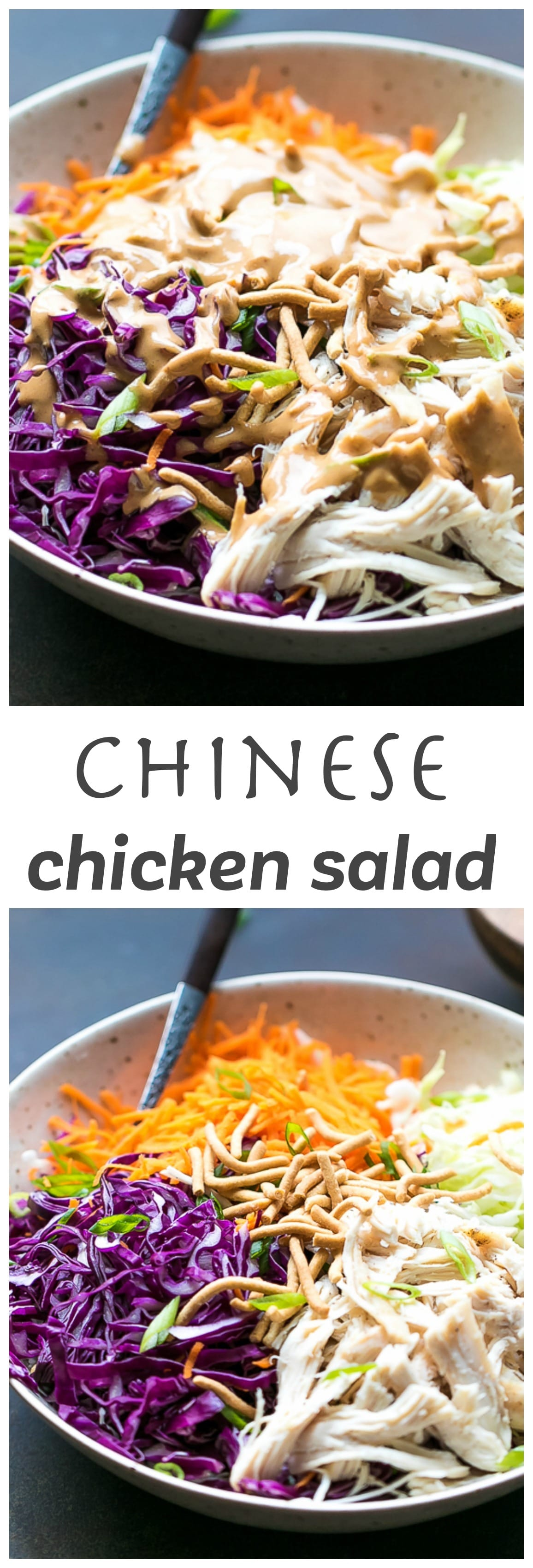 Easy Chinese Chicken Salad With Peanut Dressing Recipe
