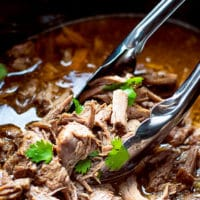 Juicy-tender-slow-cooker-Barbacoa-beef-with-sauce-crock-pot-cilantro