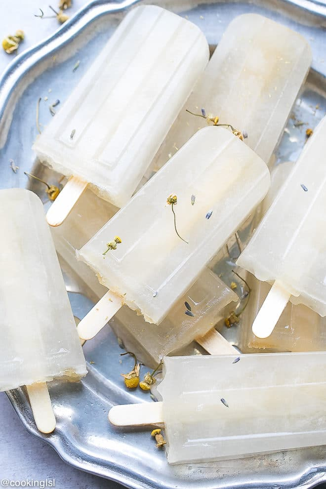 Lavender And Chamomile Popsicles