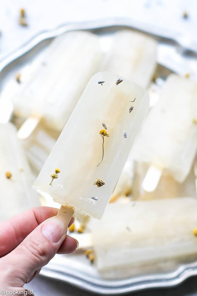 Lavender And Chamomile Popsicles - soothing and refreshing summer treat