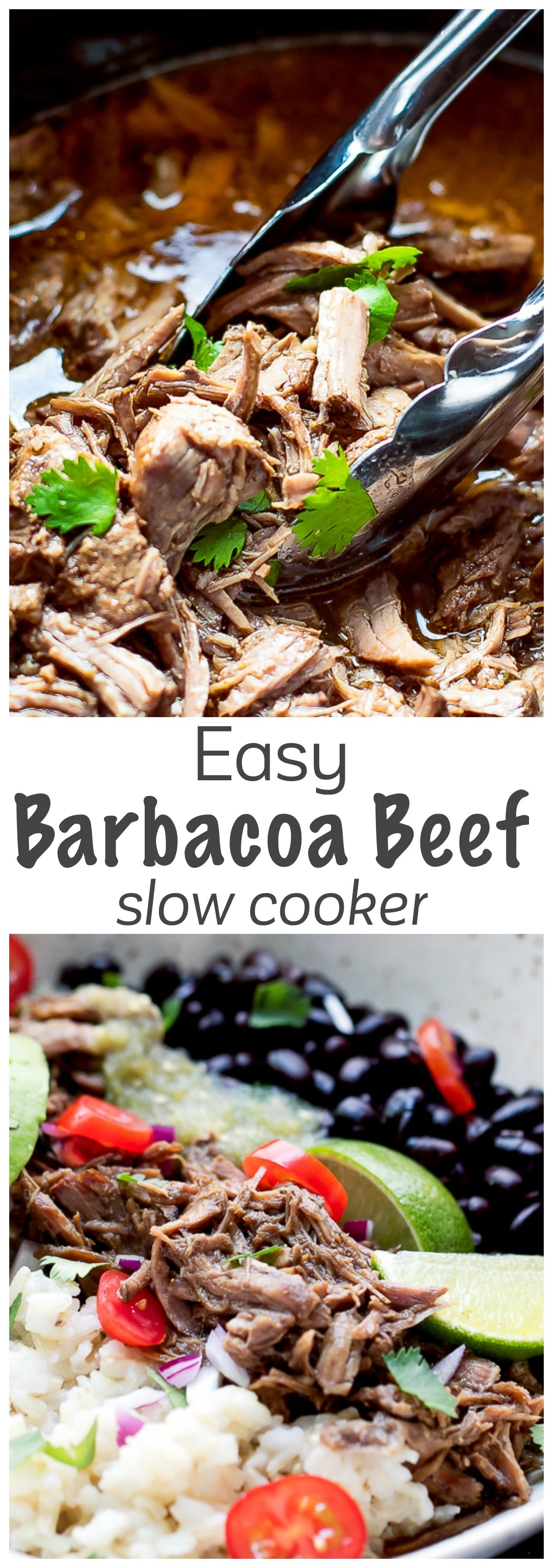 Easy Barbacoa Recipe Slow Cooker - tender slow cooked beef, easy to make, less expensive and tastier than the one I've had at a popular restaurant.