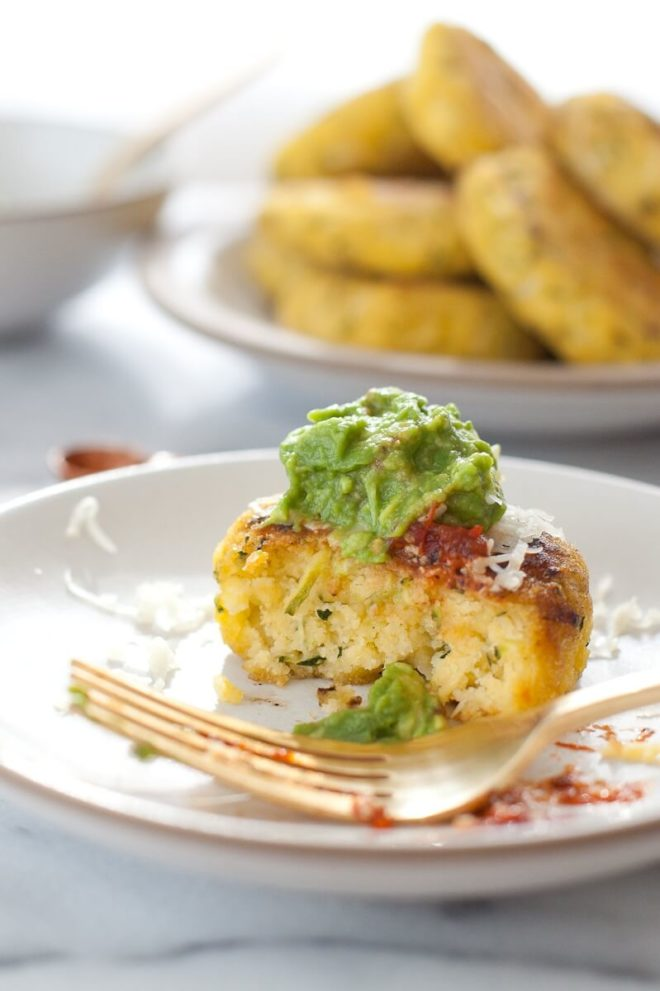 Zucchini Arepas- South American Corn Cakes.