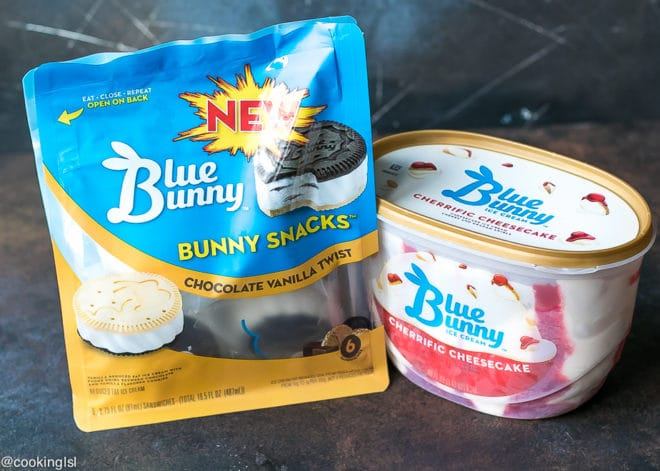 Blue Bunny® Cherrific Cheesecake Ice Cream And Snacks