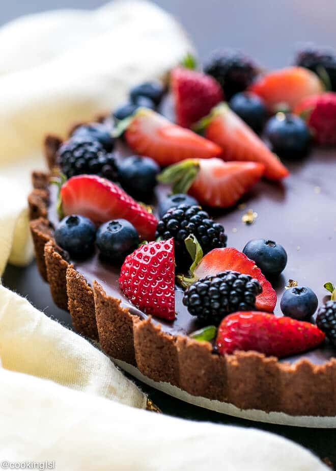 Easy Dark Chocolate Tart Recipe With Just A Few Simple Ingredients