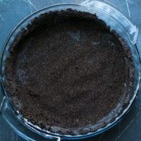 Ingredients for Dark Chocolate Pumpkin Pie With Chocolate Crust Recipe.