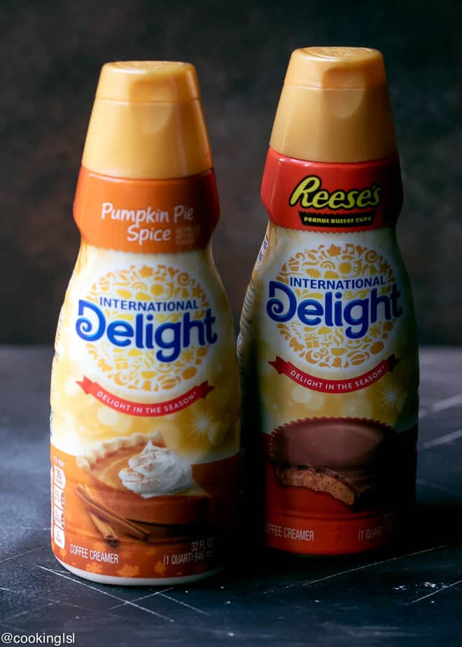 Bottle of International Delight® Pumpkin Pie Spice Creamer. Dark Chocolate Pumpkin Pie With Chocolate Crust Recipe