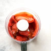 Red Pepper And Tomato Spread Lutenitsa Recipe - peeled peppers in a blender