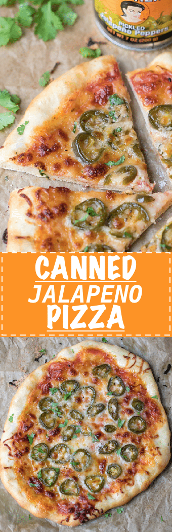 Canned Jalapeno Pizza Recipe - crunchy, hot and cheesy, made with just a few simple ingredients. Baked on a pizza stone on the oven.