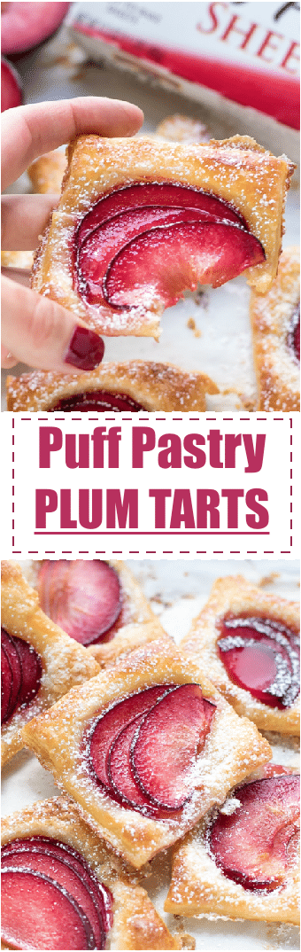 Easy Mini Plum Tarts Recipe With Puff Pastry