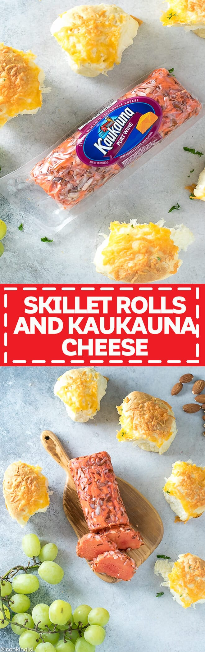 Cheesy Skillet Bread Rolls With Kaukauna Cheese - simple recipe, prefect for your holiday party.