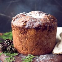 Easy Homemade Italian Christmas Bread Panettone Recipe - WITH PINE CONES ON THE SIDE, GREAT FOR CHRISTMAS!