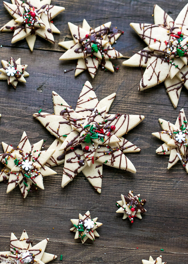 Stacked Star Christmas Tree Sugar Cookies Recipe Cooking Lsl