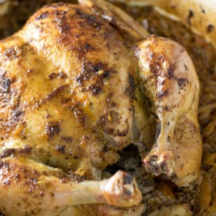Whole Chicken And Cabbage Recipe In A Dutch Oven/Braiser crispy, juicy and delicious