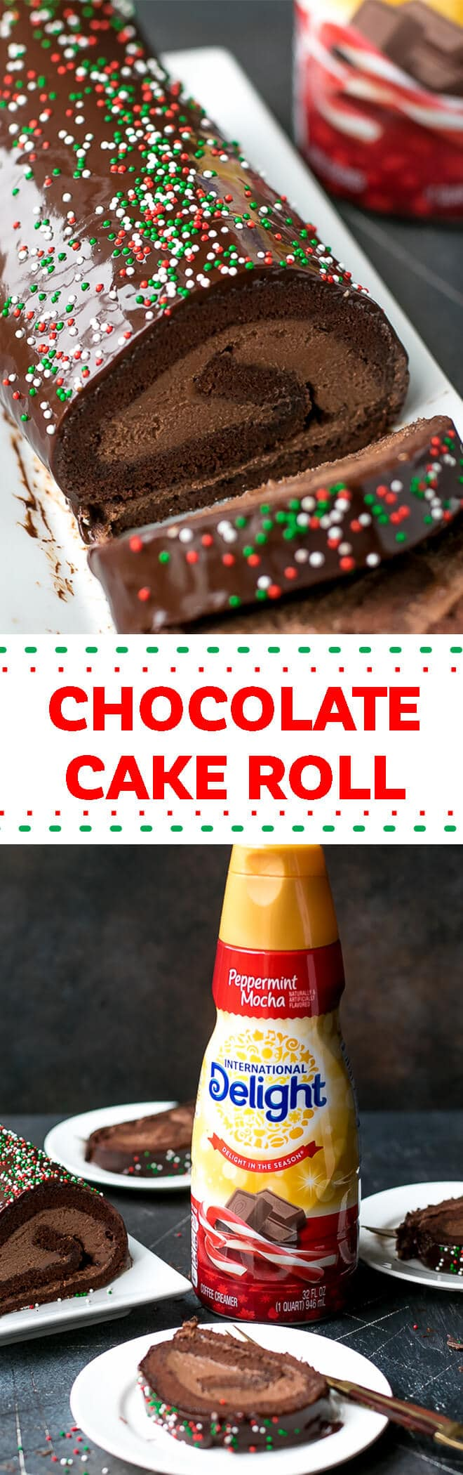 Chocolate Cake Roll With Chocolate Mascarpone Whipped Cream Recipe