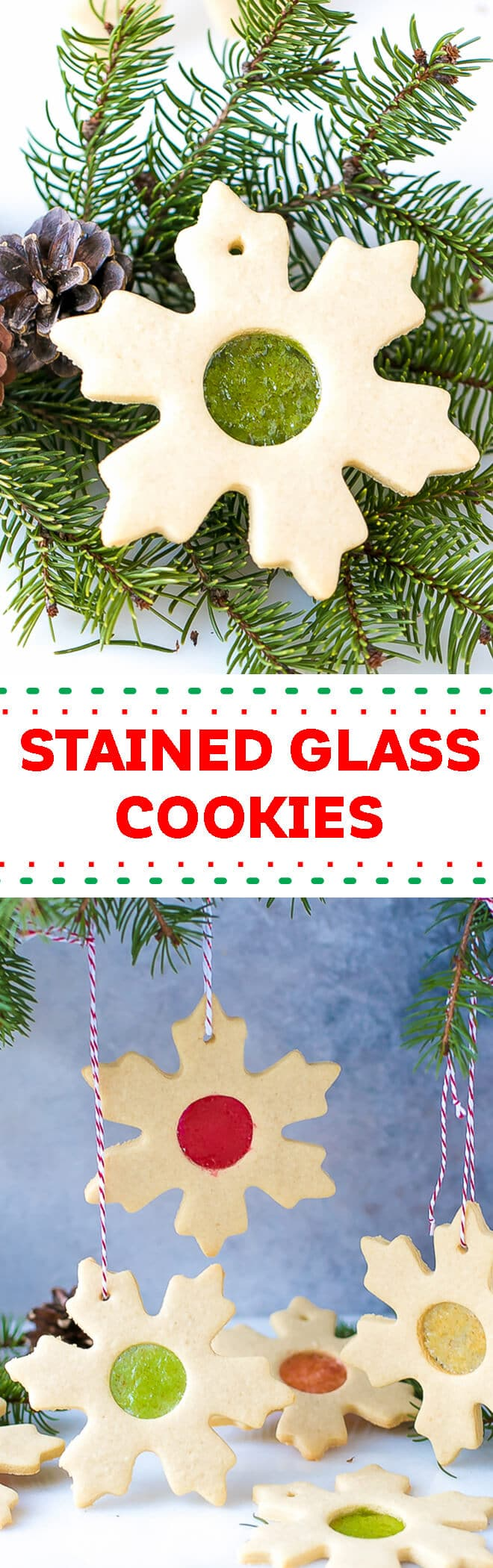 Easy Stained Glass Cookies Recipe - buttery sugar cookies, cut out and baked with crushed candy, to achieve