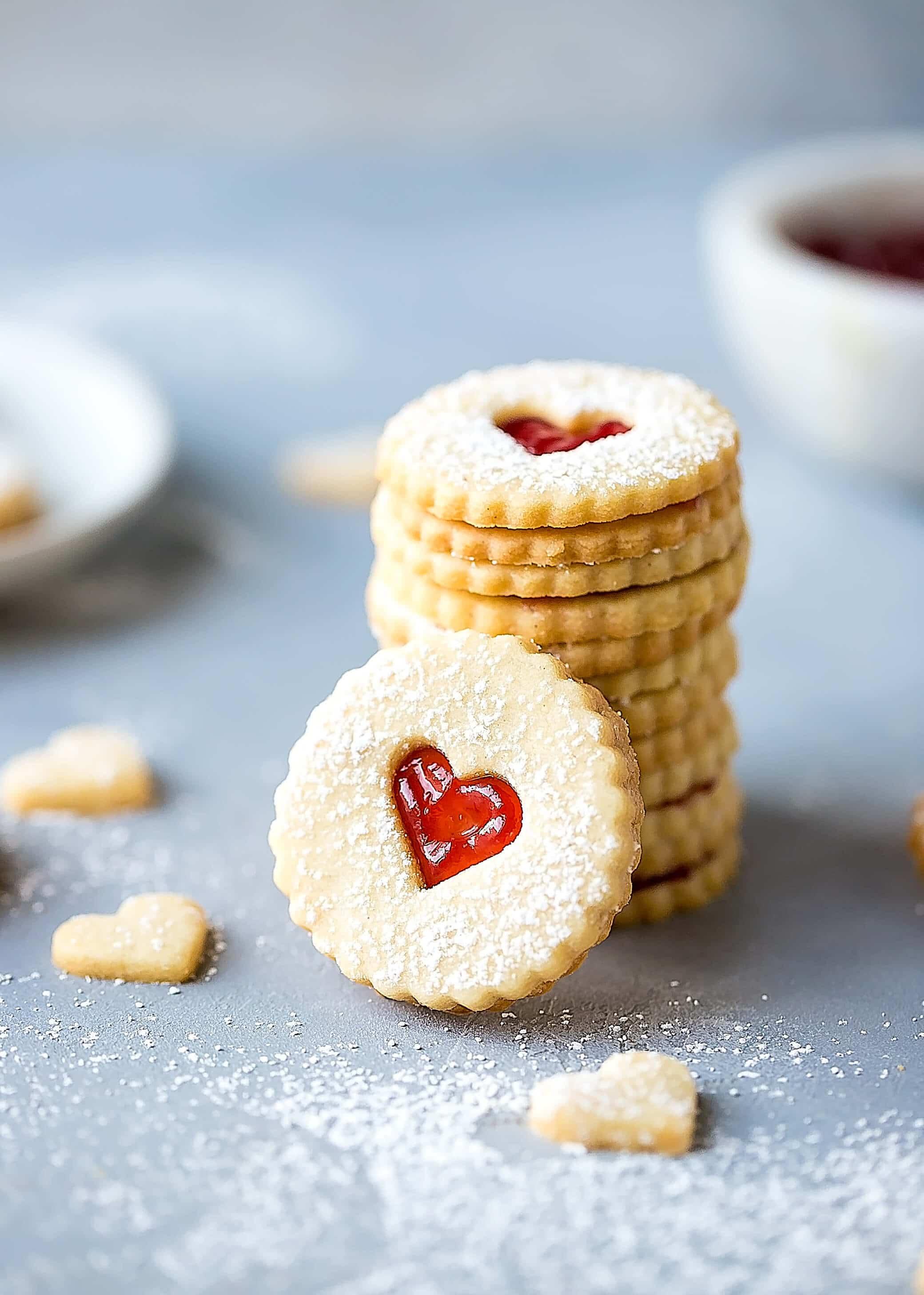 foto Linzer Cookies