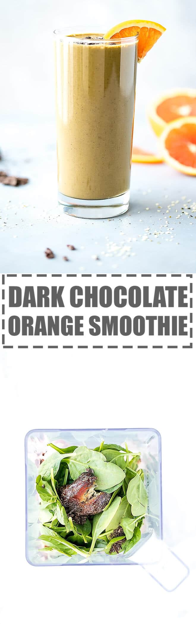 Chocolate Orange Smoothie Recipe - creamy and nutritious, lightly sweet and full of citrusy flavor this smoothie is great for snack or dessert.