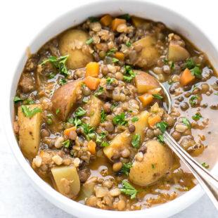 Lentil Potato Soup Recipe