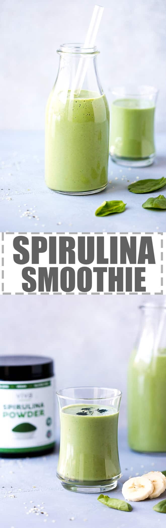 Spirulina Smoothie Recipe - simple, refreshing and nutritious drink, perfect for post workout or a healthy snack.