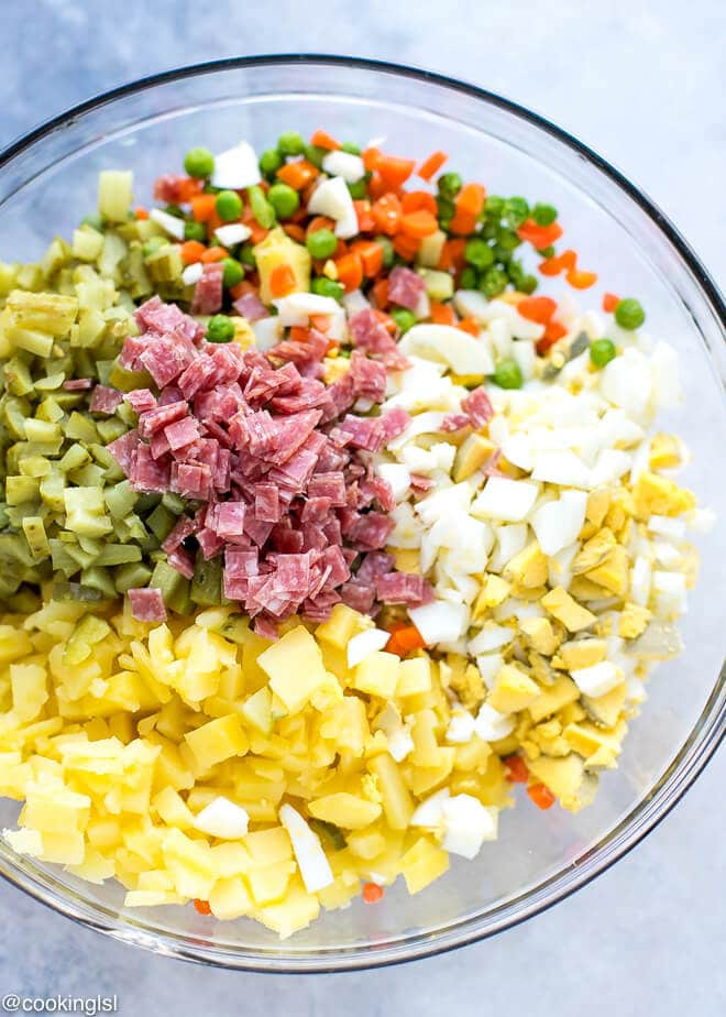 how to cook russian salad