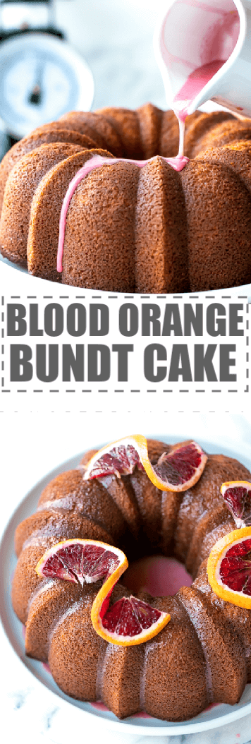 Easy Blood Orange Bundt Cake Recipe - moist and flavorful citrus pound cake, loaded with fresh blood orange flavor, baked in a bundt pan and drizzled with light and sweet simple blood orange glaze. #citruscake #bloodorange #bloodorangecake #poundcake #cutruscake #bundtcakerecipe #cakerecipe #bloodorangerecipes #citrusrecipes #buttermilk #orangezest