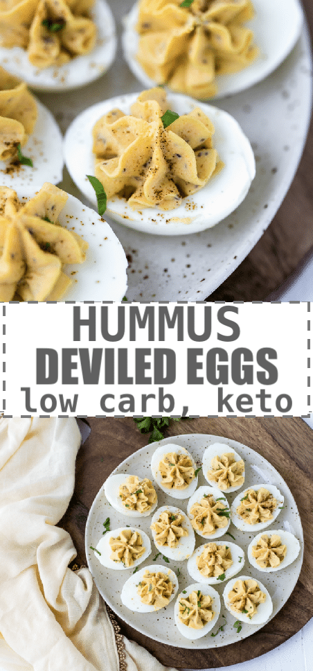 Hummus Deviled Eggs Recipe - Low Carb, Keto - Cooking LSL