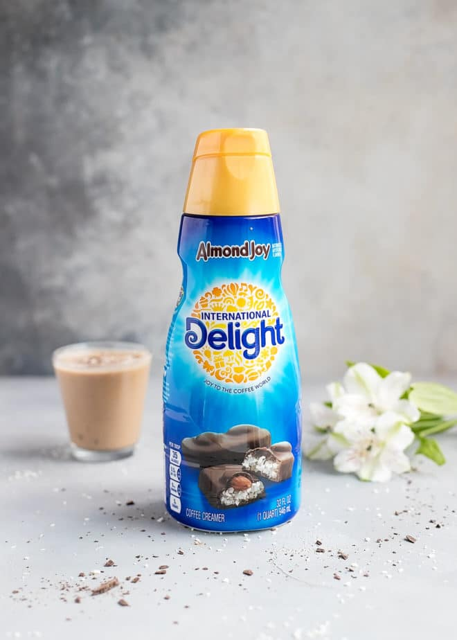 Coffee smoothie and International Delight Almond Joy Creamer