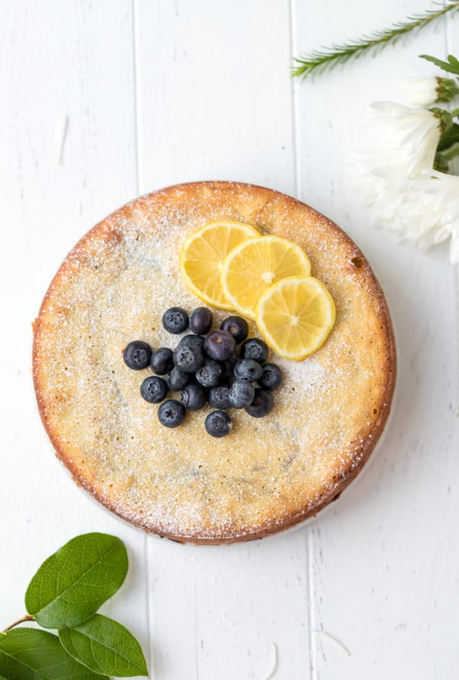 Keto Lemon Cake With Blueberries {Low-Carb, Gluten-Free}