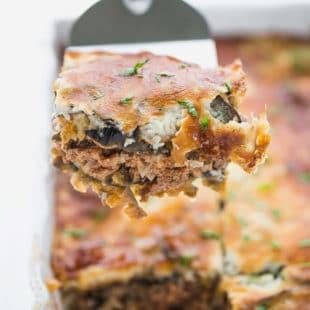 Eggplant moussaka layers