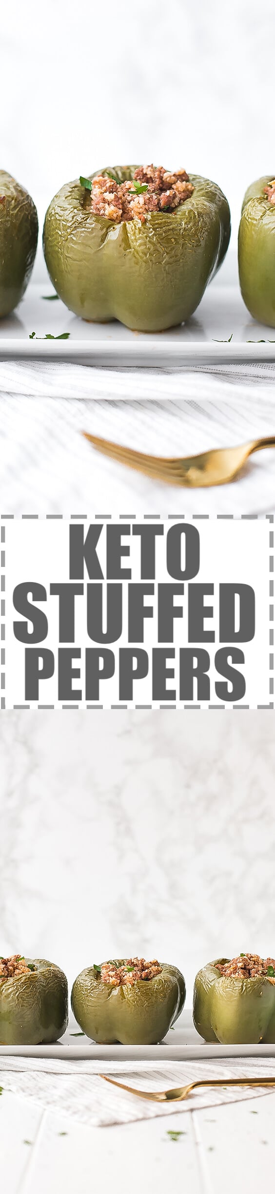 Keto Stuffed Peppers With Cauliflower Rice Recipe - simple, low-carb meal, made with bell peppers, ground beef and cauliflower rice. Quick and easy to make, nutritious and delicious! #ketorecipes #lowcarbrecipes #ketodiet #stuffedpeppers