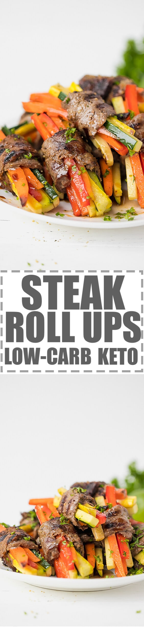 Easy Steak Rolls Recipe With Veggies Low-Carb, Keto - very easy to make, juicy steak strips rolled around julienned carrots, peppers and zucchini, grilled to perfection. Great for an appetizer or a snack, but also could be served as a main dish. Low-carb, keto diet approved ingredients. #KETORECIPES #KETODIET #lowcarb #lowcarbrecipes #steakrecipe #steakrollups