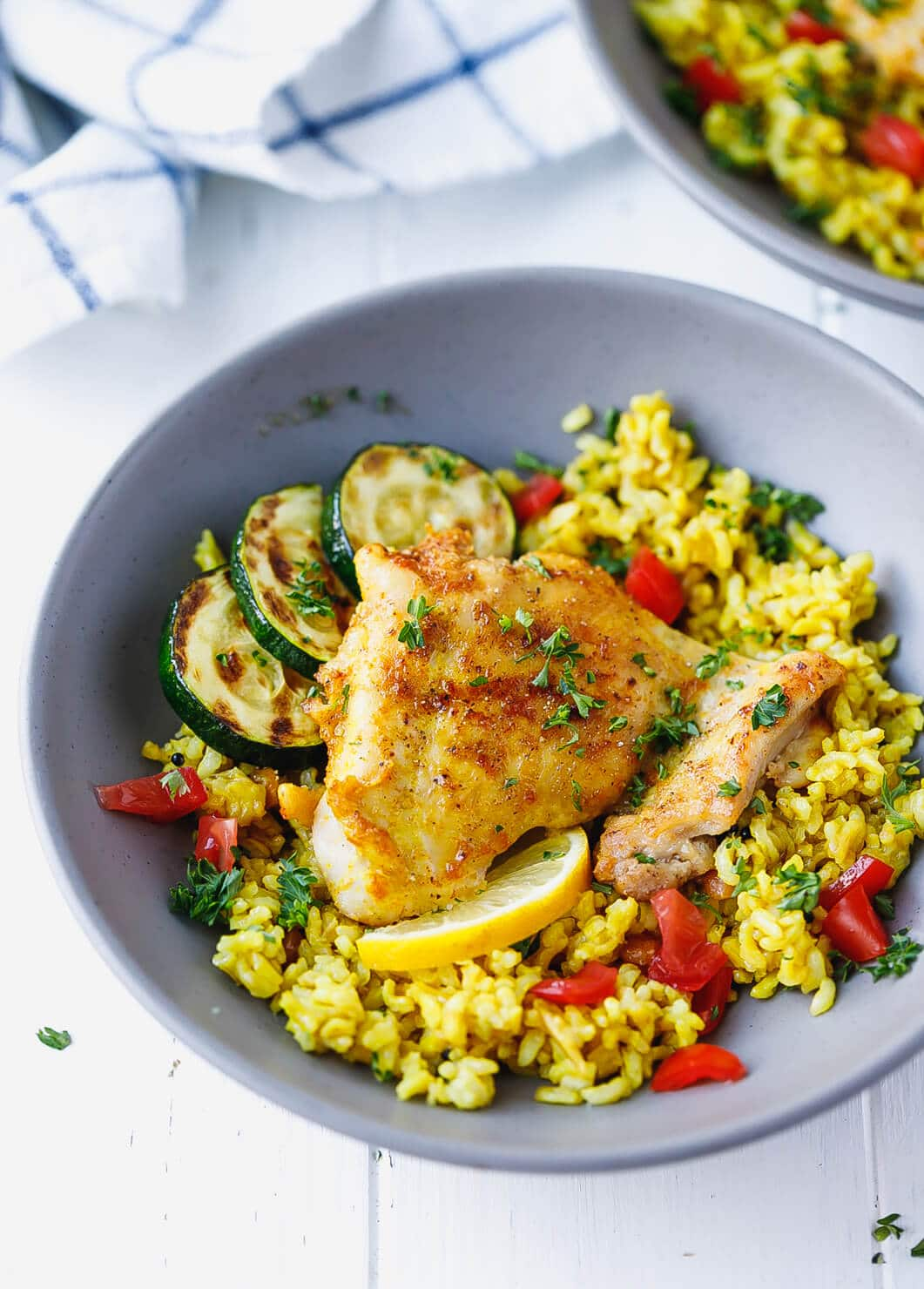 Turmeric Chicken And Rice - Cooking Lsl-9827